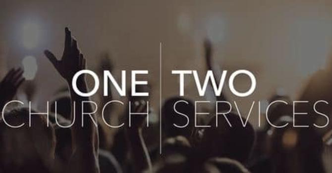 2 Sunday Celebrations, 1 Church image