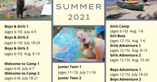Camp Medley Summer 2021 Schedule image