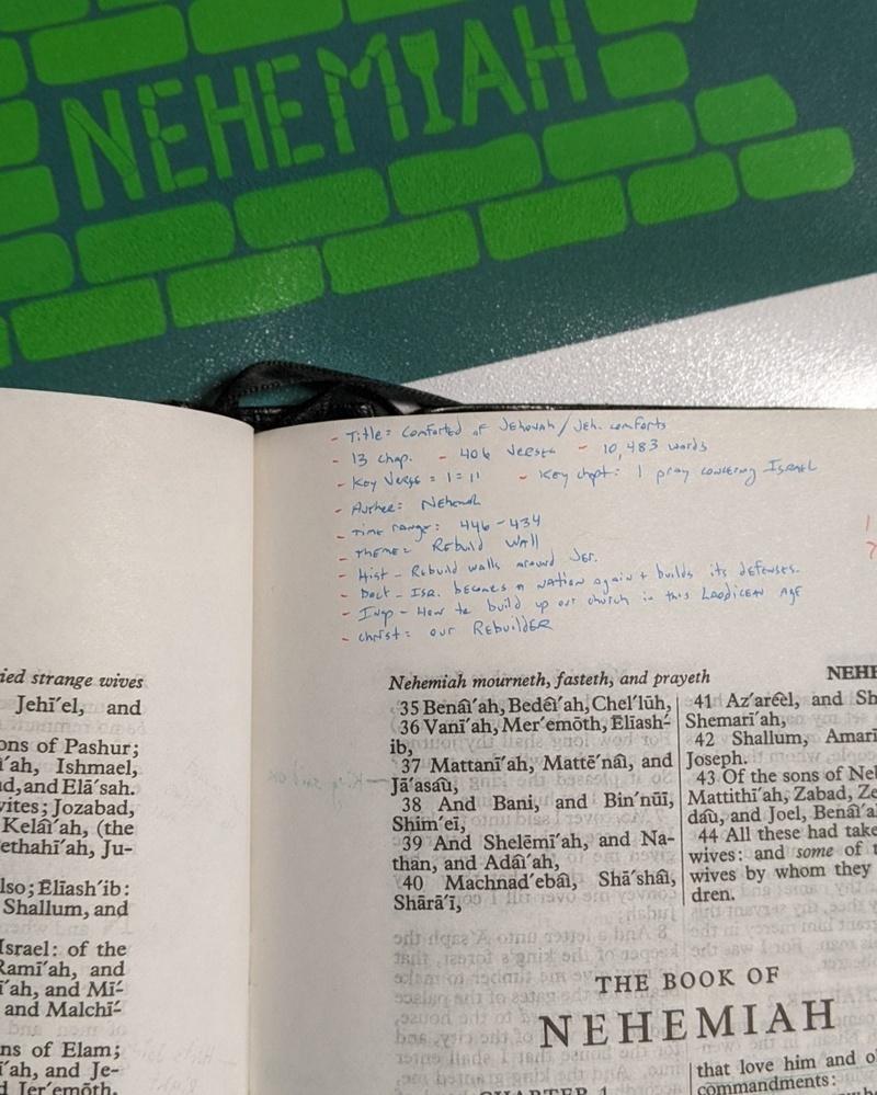Nehemiah Part 2