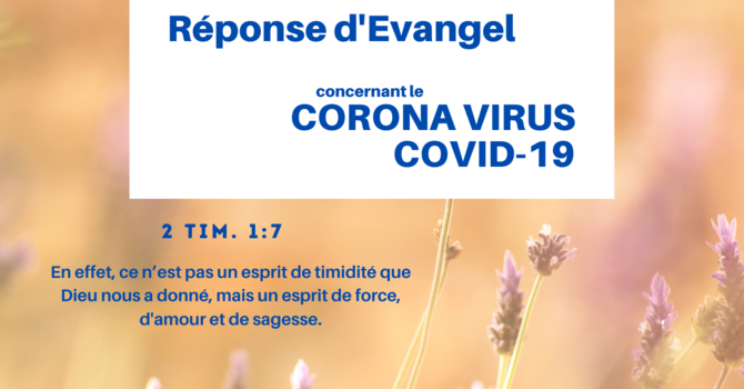 Evangel's Response to the Coronavirus