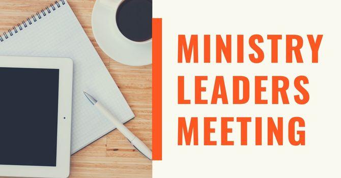 Ministry Leaders Meeting