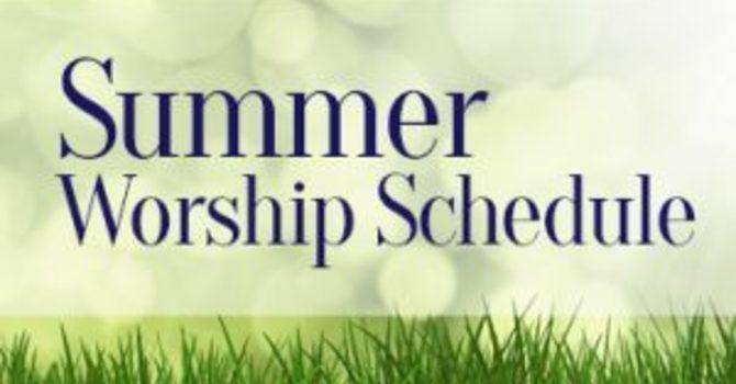 Summer 9.30 am Communion Service