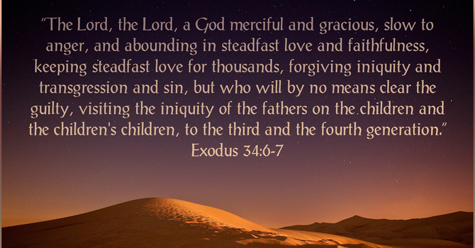 The Lord Is Forgiving & Just