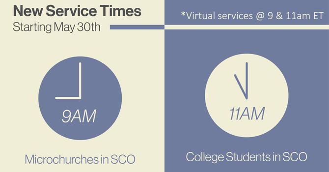 New Sunday Service Times image