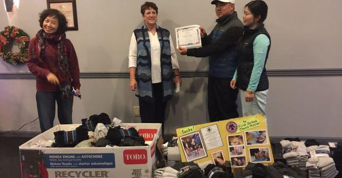 Westca Golf Club Donates 1200 pairs of socks image
