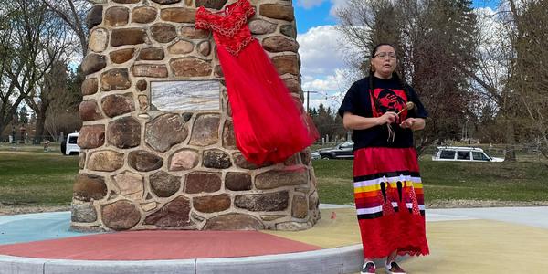 Immanuel Reconciliation Team Creates Red Dress  Display