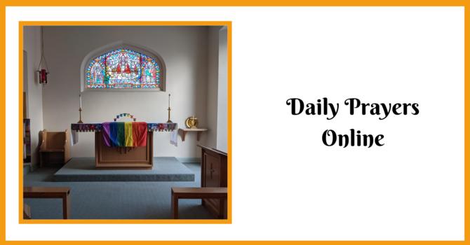 Daily Prayers - Wednesday, May 12, 2021 image