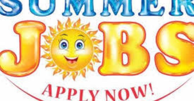 Summer Student Jobs image
