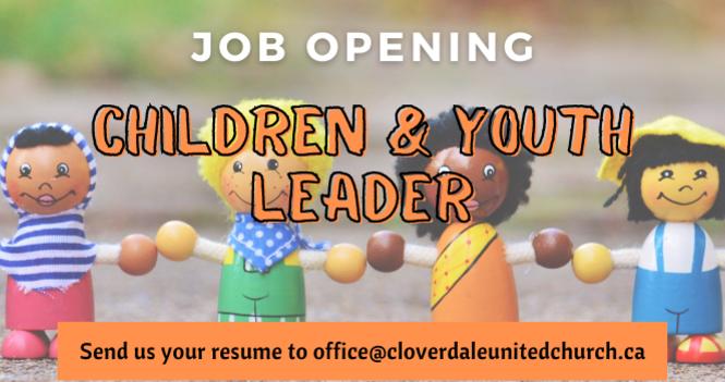 Job Opening - Children & Youth Leader