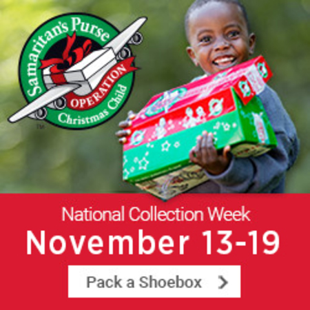 Samaratin's Purse Operation Christmas Child Shoe Boxes