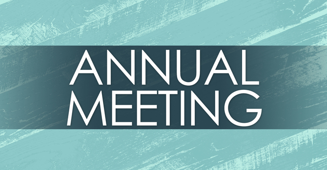 Notice of Annual Meeting to be held Feb 17th image