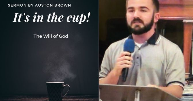 It's in the cup!