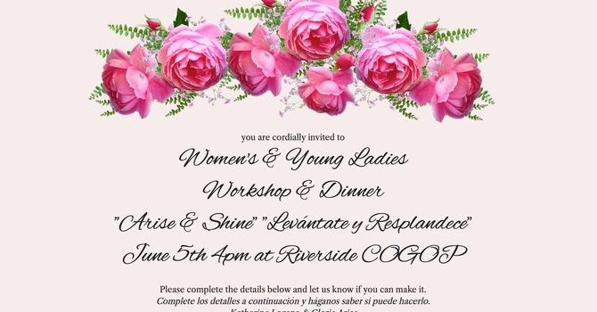 Women's & Young Ladies Workshop & Dinner image