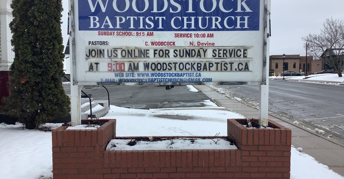 A Sign Gifted to St. Luke's from the Woodstock Baptist image