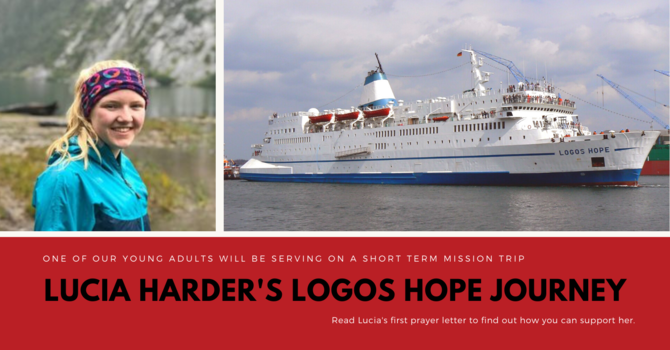 Lucia Harder will be serving onboard the Logos Hope! image