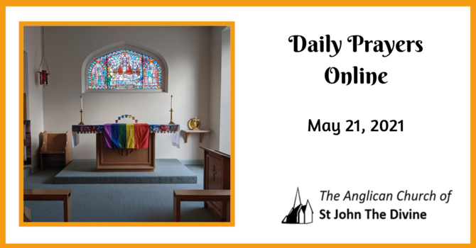 Daily Prayers for Friday, May 21, 2021 image