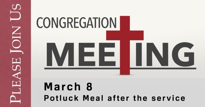 Congregation Meeting with Potluck Meal
