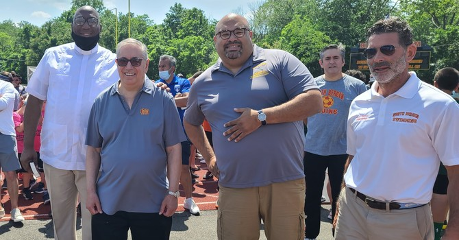 Pastor Greg Participates in the Opening Ceremonies for North Bergen Soccer! image
