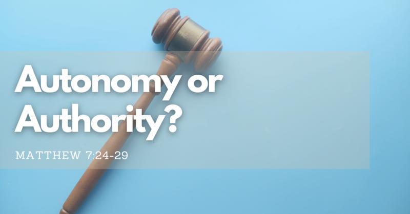 Autonomy or Authority?