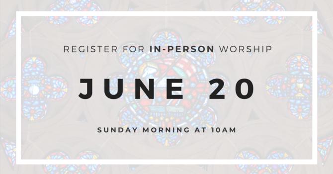 Worship Service Attendance Registration - June 20