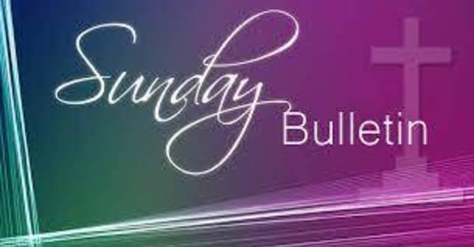 Sunday Bulletins image
