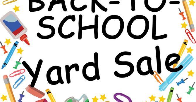 FREE Back to School Yard Sale