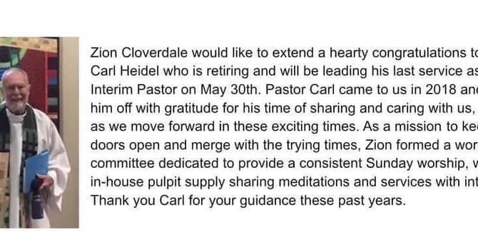 Farewell to Pastor Carl image