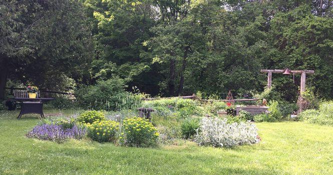Bible Study in the Garden