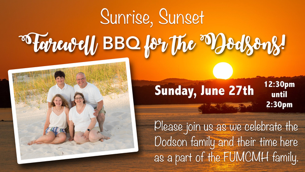 Farewell BBQ for the Dodson Family