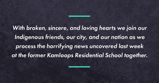 Response to Kamloops Residential School News image