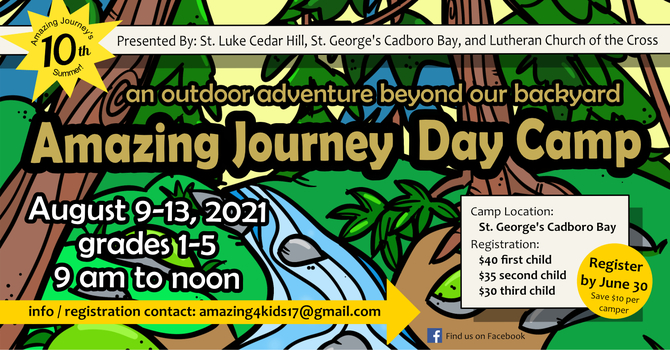 Amazing Journey Day Camp Registration Is Now Open