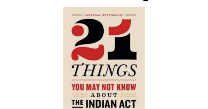 Book Club- 21 things about the Indian Act