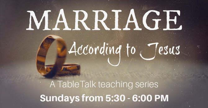 Marriage According to Jesus image