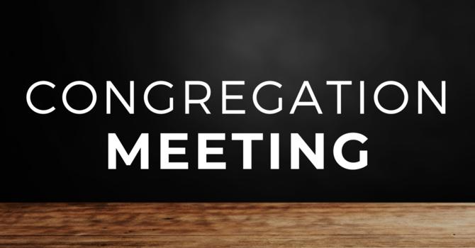 Congregation Meeting - Wednesday, June 9, 2021 image