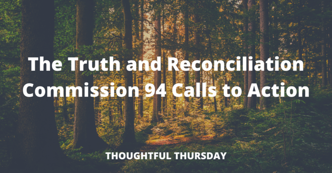 Thoughtful Thursday: The Truth and Reconciliation Commission of Canada image