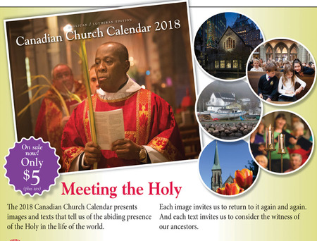 2018 Anglican/Lutheran Calendars.