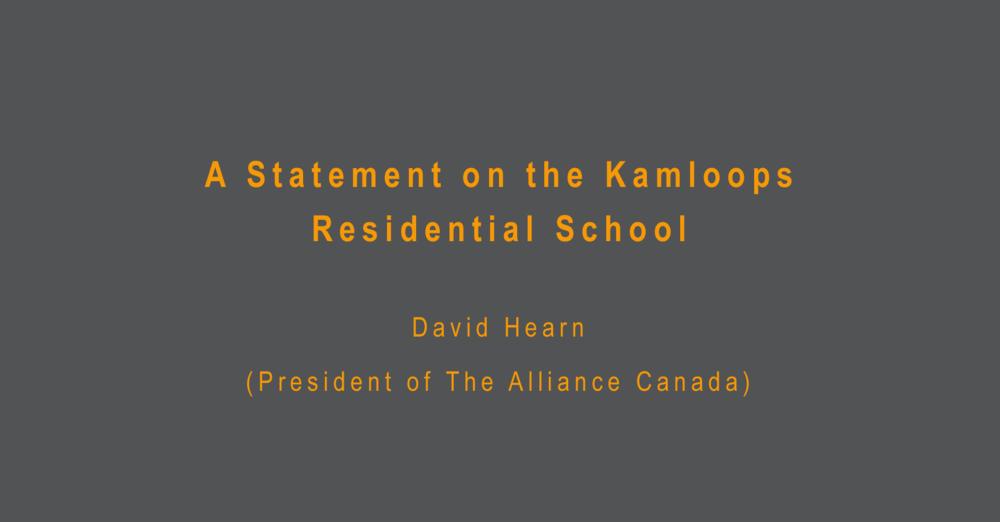 Statement on Kamloops Residential School
