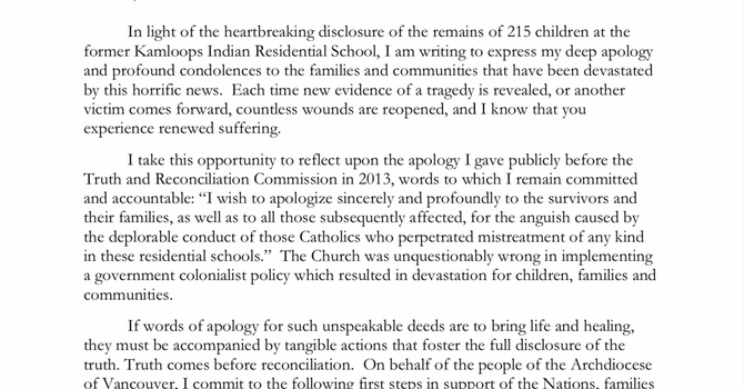 Archbishop Michael's Expression of Commitment  image