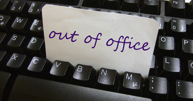 Church office - Vacation closure
