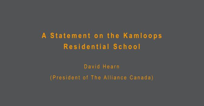 Statement on Kamloops Residential School image