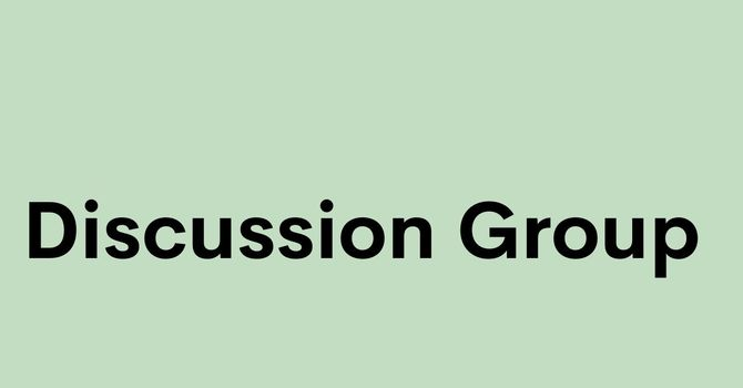 Online Weekly Discussion Group-On Summer Break