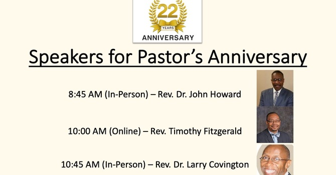 Pastor's 22nd Anniversary Celebration image