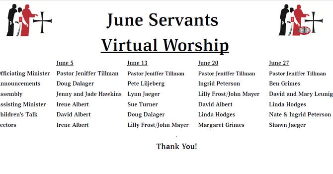 June 2021 - Servants List image