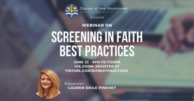 Webinar - Screening in Faith: Best Practices