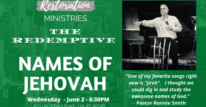 The Redemptive Names of Jehovah