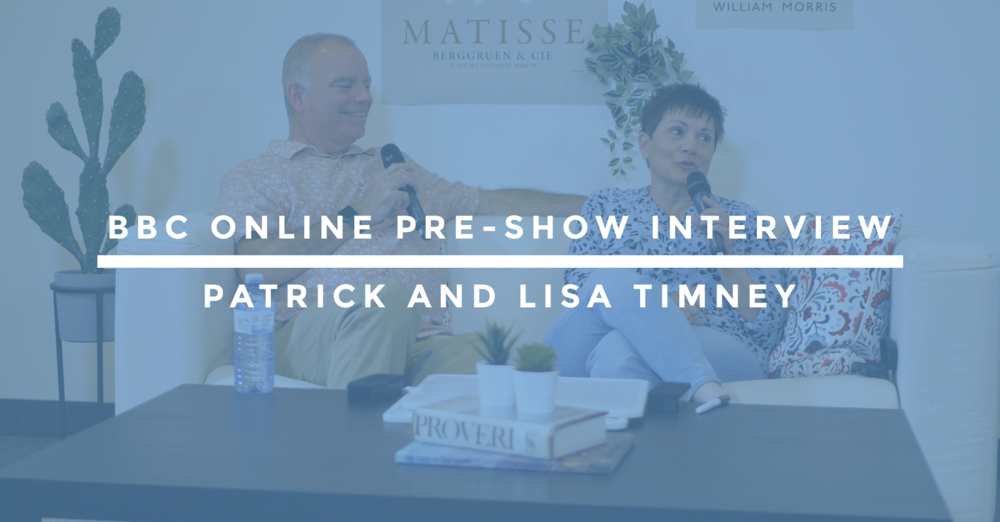 BBC Online Pre-Show Interview | Patrick and Lisa Timney