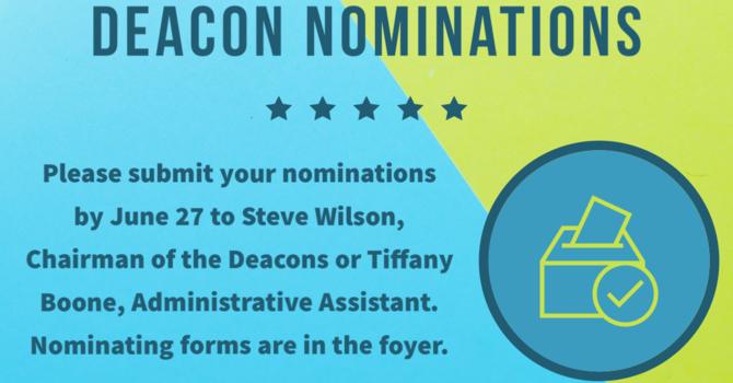 Deacon Nomination image
