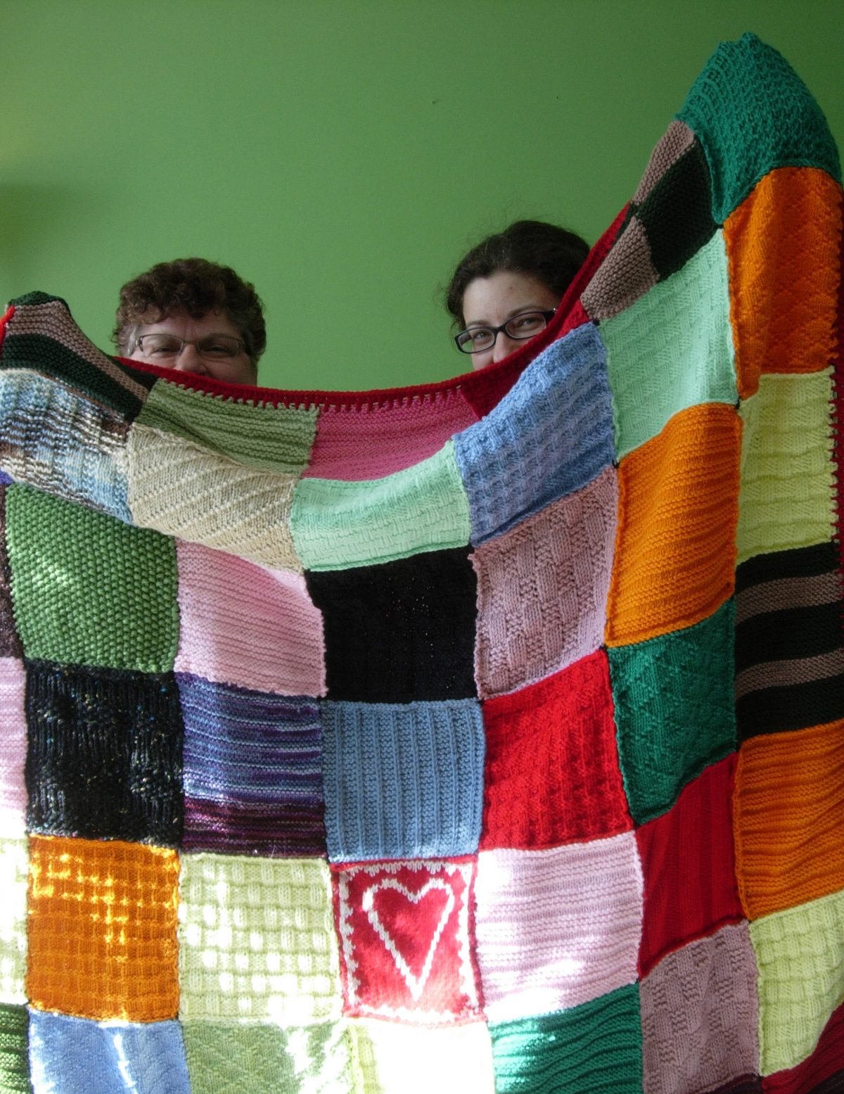 Knitting for Peace, First Blanket