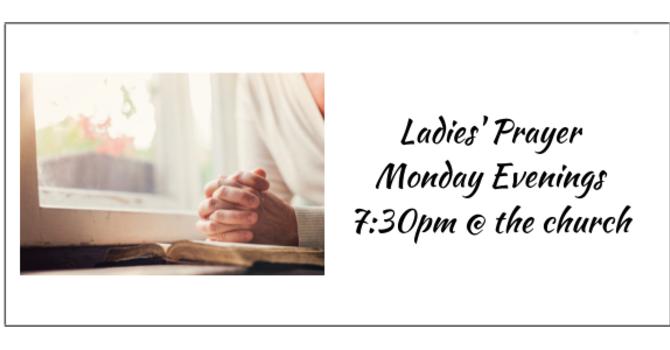 Ladies' Prayer 7:30pm