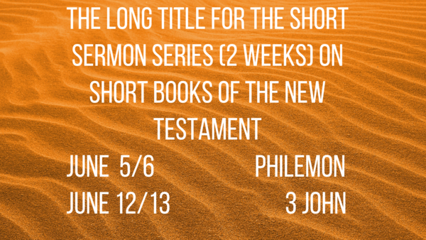 The Long Title For The Short Sermon Series